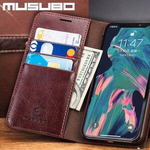 Image 3 - Musubo Leather Case Voor Iphone 11 Pro Max 8 Plus 7 Luxe Wallet Telefoon Gevallen Cover Voor Iphone Xs Max X 6 6S Plus Card Capa Coque