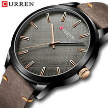 CURREN Man Watches Fashion Business Quartz Wristwatch with Leather Classic Casual Male Clock Black Simple Watch