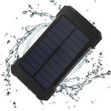 30000mAh 20000mAh Top Solar Power Bank Tragbare Wasserdichte Externe Batterie Dual USB Schnelle Lade Mobile Ladegerät mit LED licht