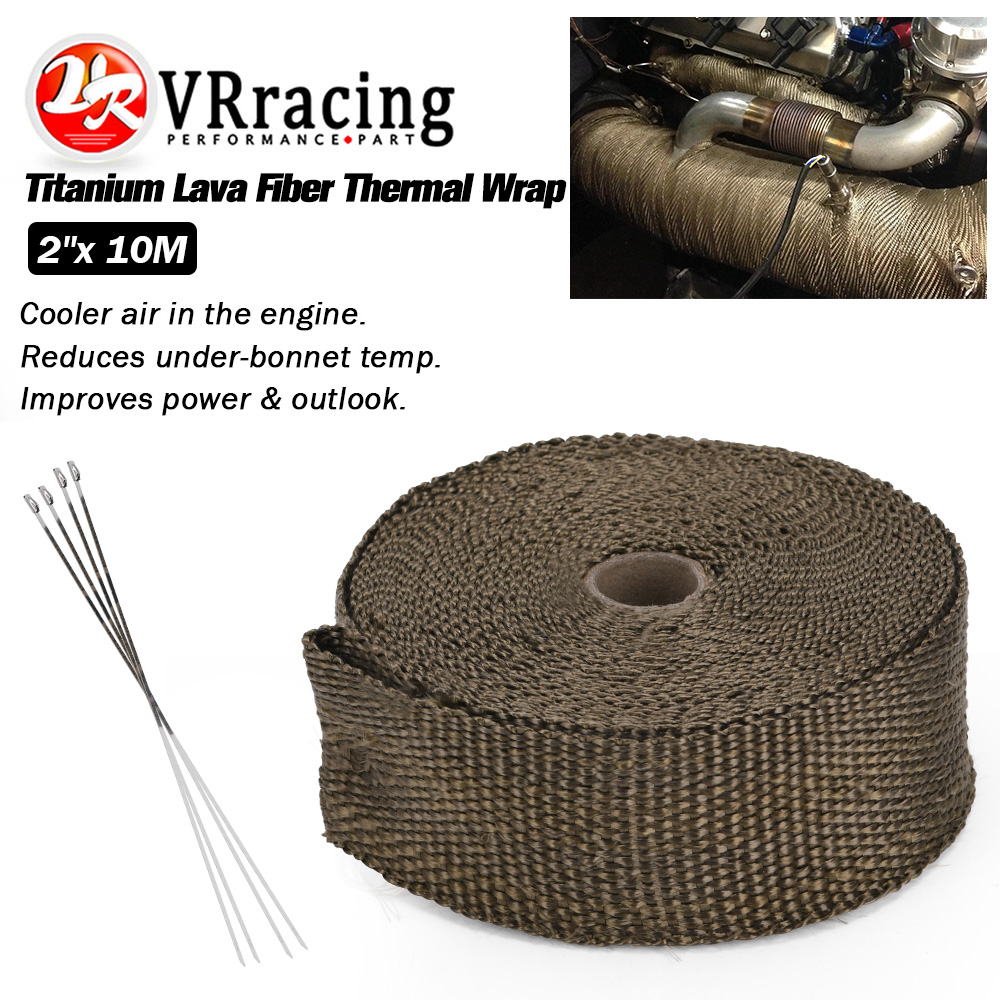 PRO EXHAUST WRAP PIPE HEADER THERMO TAPE 25 ROLL TURBO HEAT SHIELD INSULATION