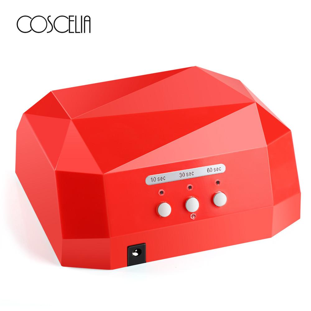 36W Nail Dryer Diamond Shaped LED UV Lamp Nail Lamp LED & CCFL Curing For UV Gel Nail Polish Nail Art Manicure Tools