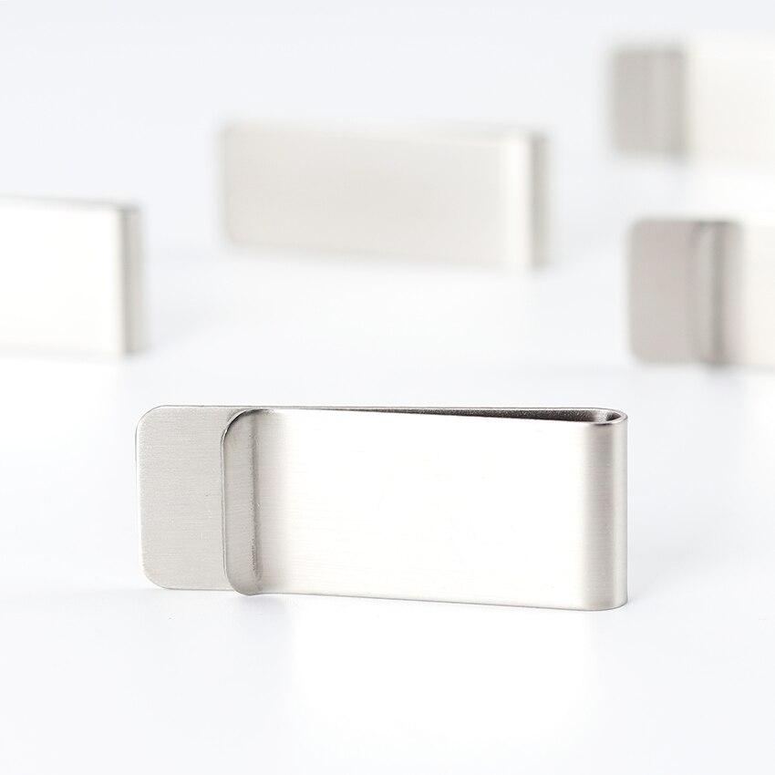 metal clipe de dinheiro moda simples prata