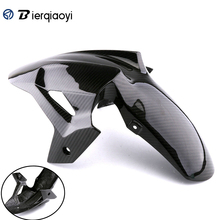 for ninja400 kawasaki Accessories Real Carbon Front Fender Splash Mud Dust Guard Mudguard For Kawasaki Motorcycle Ninja 400 2018
