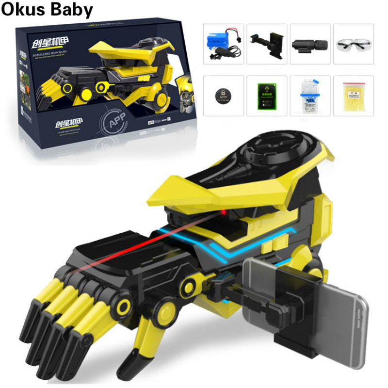 Smart APP Water Bullet Continuous Launch Robot Manipulator Arm Fighting Children's Toy Guns Soft Bullet Gifts For Boy