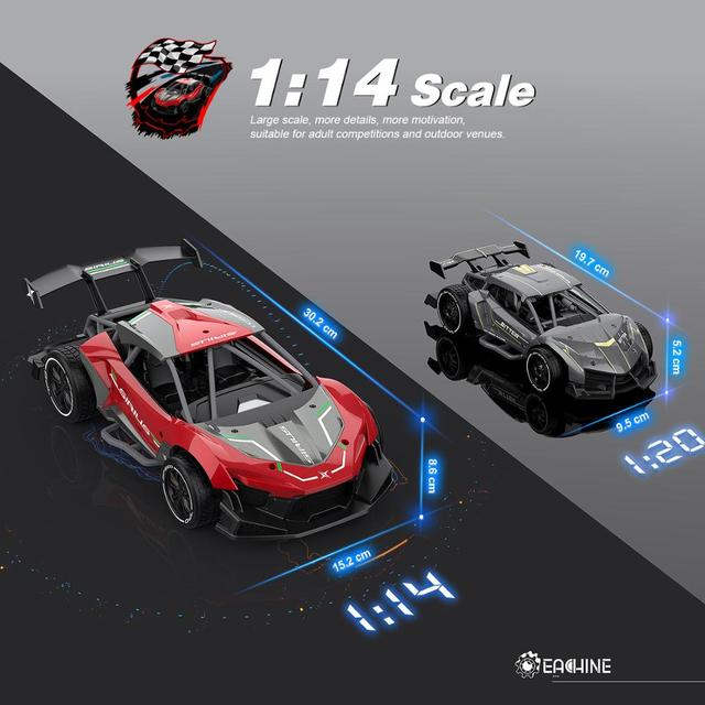 Eachine EC06 1:14 2.4GHZ 4CH High Frequency Alloy Remote Control High-speed Moter RC Racing Car 3
