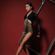 Dance-Dress Ballroom Latin Chacha Dancing Samba Tango Performamnce Women New L9678 Patchwork
