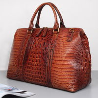 Luufan High End Alligator Carry On Luggage Famale Lady Travel Shoulder Bag 45cm Fashionable Leather Travel Bag For Women
