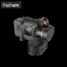Hohem XG1 Wearable Clássico 3 Eixo Cardan Estabilizador de Controle Bluetooth para DJI 7 Osmo Action Camera Gopro Hero/ 6/5 SJCAM Yi 4K