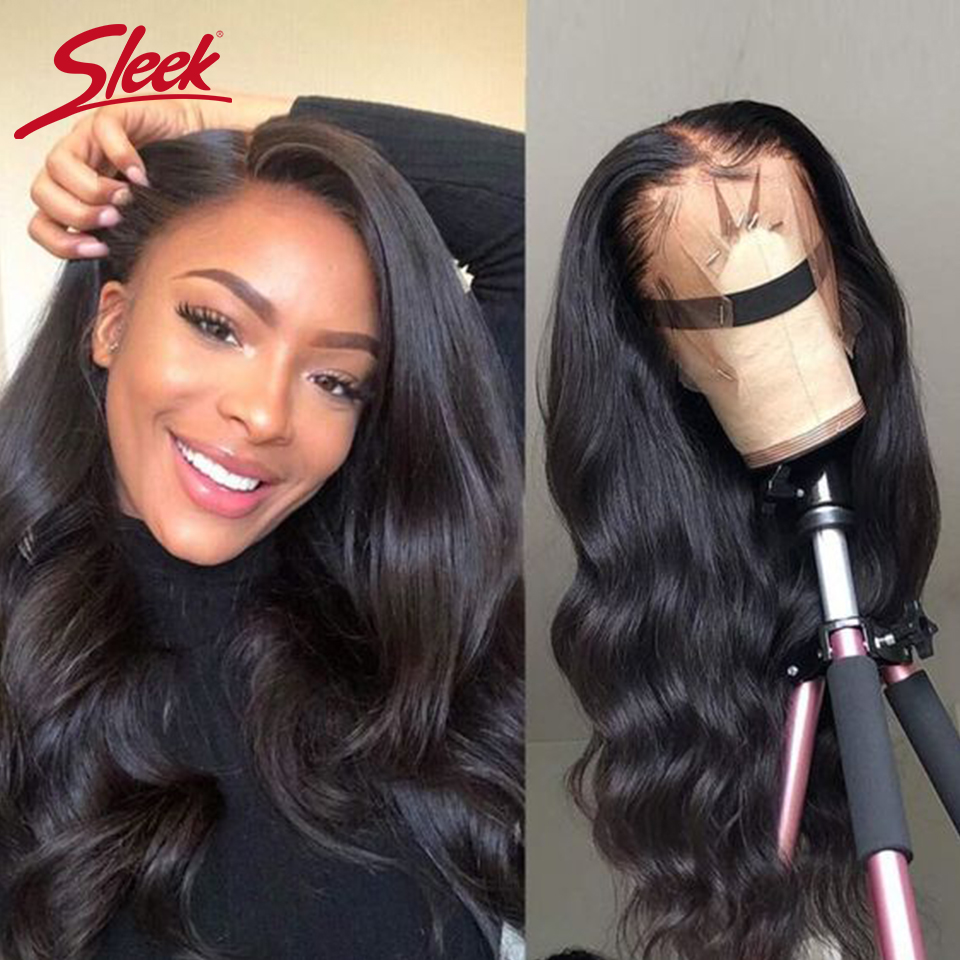 Sleek Brazilian Remy 360 Lace Frontal Human Hair Wigs 28 30 Body Wave 150% Density Human Hair Wigs Pre Plucked With Baby Hair