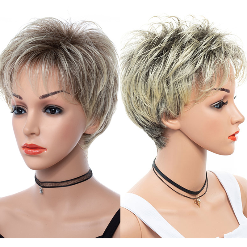 Synthetic Fiber Hair Female Short BOB Wig Natural Straight High Temperature Hair Wigs Heat Resistant Hair For Party