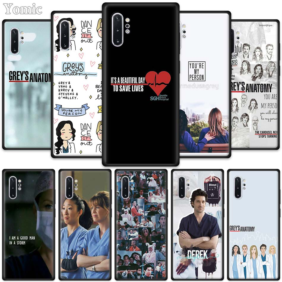 <font><b>Greys</b></font> <font><b>Anatomy</b></font> <font><b>Case</b></font> for Samsung Galaxy Note 10 5G M40 M30 M20 S10 Plus A50 A70 Black Silicone Phone Cover image