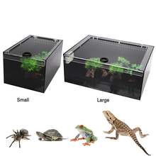 2020 new clear reptile breeding box small large acrylic terrarium