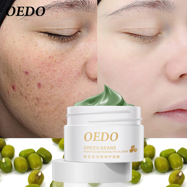 Hot Face Cleansing Mung Bean Mud Peeling Acne Blackhead Treatment Mask Remover Contractive Pore Whitening Hydrating Care Creams 1