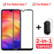 2-in-1 Protective Glass For Xiaomi Redmi Note 7 Camera Screen Protector Lens On Redmy Red mi 7 Note7 Protective Glass Film