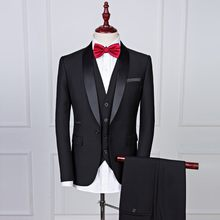 New Mens Wedding Suits Groom 2020 Slim Fit Male Suit Formal Black Luxury Man Suit Latest Coat Pant Designs Costume Homme Mariage(China)