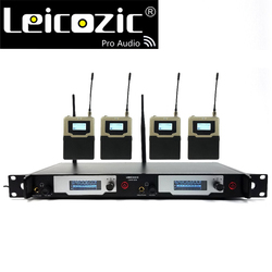 Leicozic Wireless In-ear Monitor System UHF IEM System Stage Monitoring L9400 4 Receivers SR2050 Professional Stage Monitoring