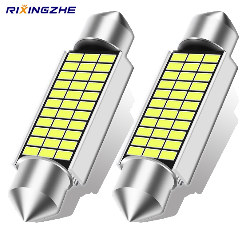 RXZ 2PCS Festoon C10W LED C5W LED Canbus 31/36/39/41MM error free Interior reading Light Clearance Bulbs Auto plate Lamp white