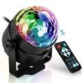 7 farben DJ Disco Ball Lumiere 3W Sound Aktiviert Laser Projektor RGB Bühne Beleuchtung wirkung Lampe Licht Musik Weihnachten KTV Partei Bühnen-Lichteffekt Licht & Beleuchtung -