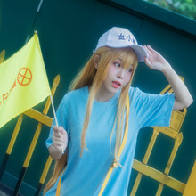 Anime Cells At Work Platelet Outfit Costume Halloween Cosplay  flag anime cells at work 1