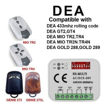цены DEA GT2M GT4M 433,93mhz garage remote control DEA fixed code garage command DEA gate remote receiver