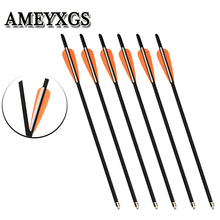 6/12/24pcs 100gr Arrowhead Mixed Carbon Arrow Compound bow Recurve outdoor Archery Hunting Bow And Accessories
