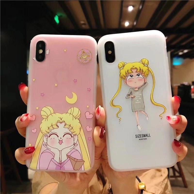 Sailor Moon Lovers Phone Case Protective Case Cell Phone Protective Case For IPhone X / Xs / Max / XR / 7/8 / 6s Phone Case Anim