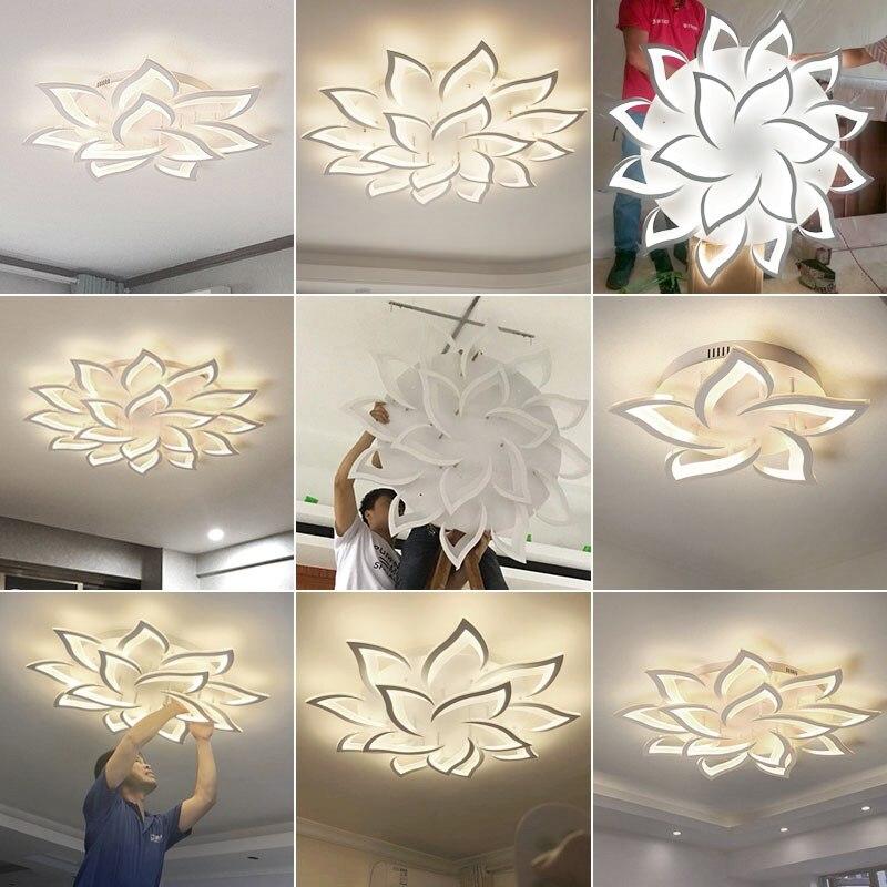 Image 5 - New led Chandelier For Living Room Bedroom Home chandelier by sala Modern decor  Led Ceiling Chandelier Lamp Lighting chandelier-in Chandeliers from Lights & Lighting