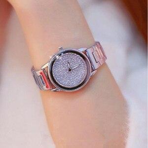 Image 5 - New Luxury Women Watches Austrian crystal Lady Dress Watch Stainless Steel Rhinestone Silver Gold Bracelet diamond Wristwatches