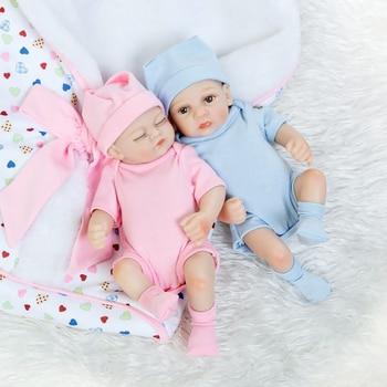 27cm Reborn Babies Girl Boy Full Silicone Baby Doll Toy Realistic Newborn Baby Doll Toddler Educational Xmas Birthday Gift