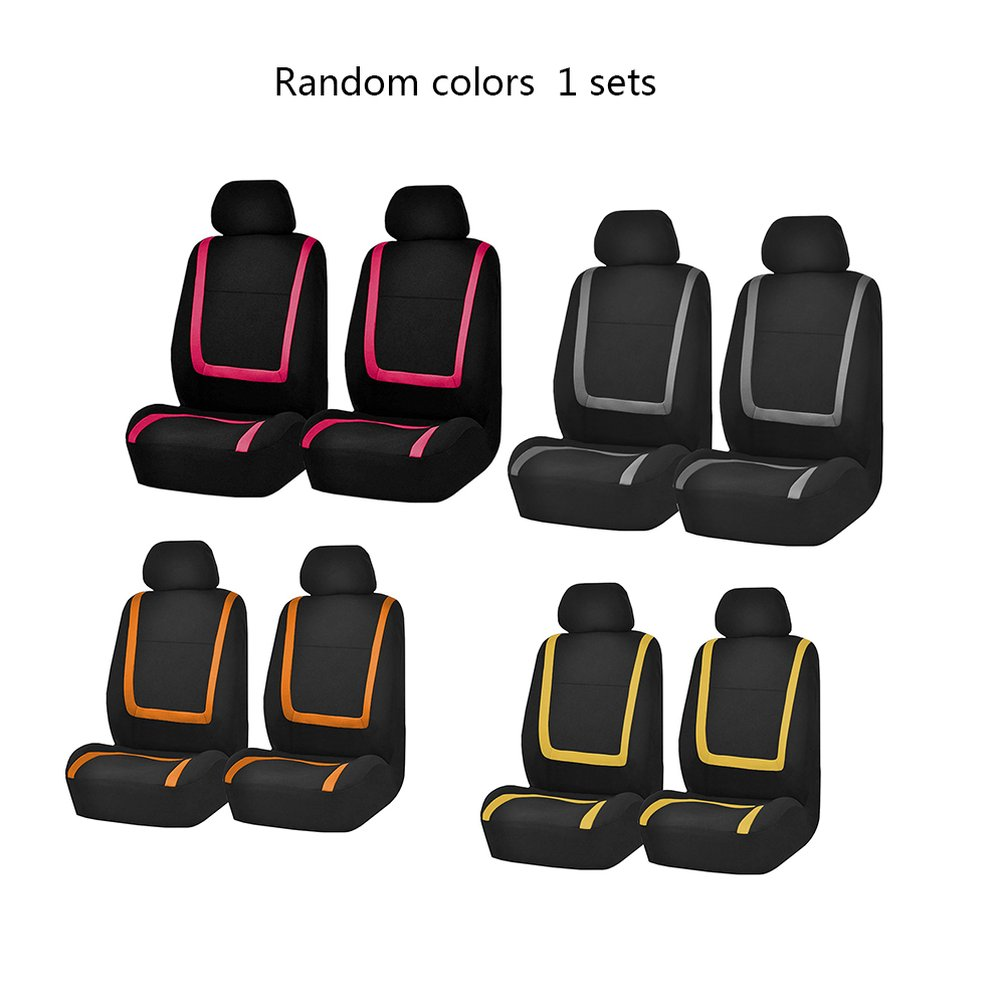 4 PCS Random Color Universal Car Seat Covers Auto Interior Styling Decoration Protect Universal Fit Interior Accessories