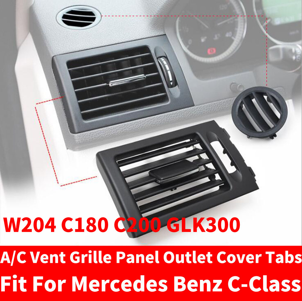 Car AC Front Left / Right Console Center Air Conditioner Vent <font><b>Grille</b></font> <font><b>W204</b></font> Panel Cover For Mercedes <font><b>Benz</b></font> C-Class C180 C200 GLK300 image