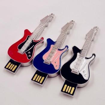 Metal Guitar Beth USB Flash Drive 1TB 2TB Gift Pen Drive 8GB 16GB 32GB 64GB Pendrive USB Memory Stick Flash Card 2.0 512GB