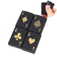 Модная газовая зажигалка в форме покера металлические бутановые
