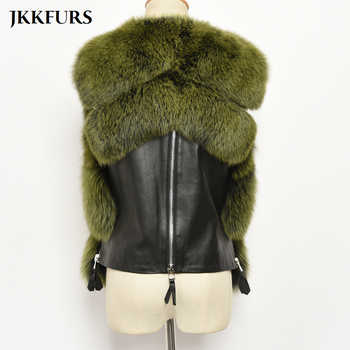2020 New Women\'s Gilet Real Fox Fur Vest Fluffy Thick Warm Fur Winter Waistcoat Fashion Luxury Genuine Leather Natural Fur S7483