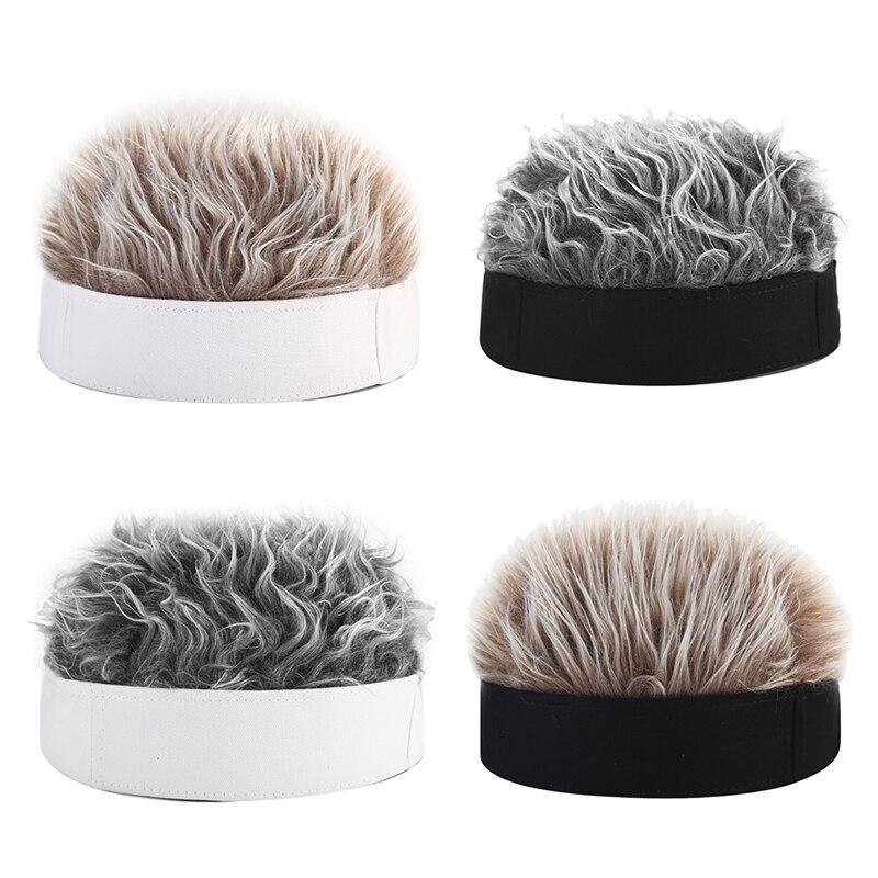2019 New Cotton Fake Hair Brimless Hat Retro Rolled Cuff Beanie Hat Trucker Worker Cap Unisex Sailor Biker Cap Wig Fashion Caps
