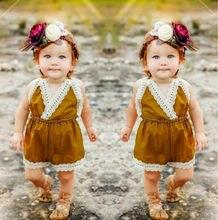 USA Newborn Summer Kids Infant Baby Girls Lace Romper Jumpsuit Sunsuit Outfit Clothes 0-24M