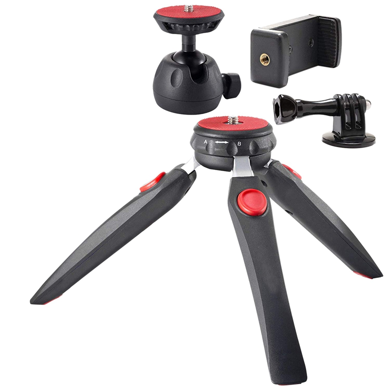 Mini Tripod Camera Holder - Premium Tabletop Small Phone Tripod Mount For Gopro Iphone/Cell Phones Webcam Projector Compact Dslr