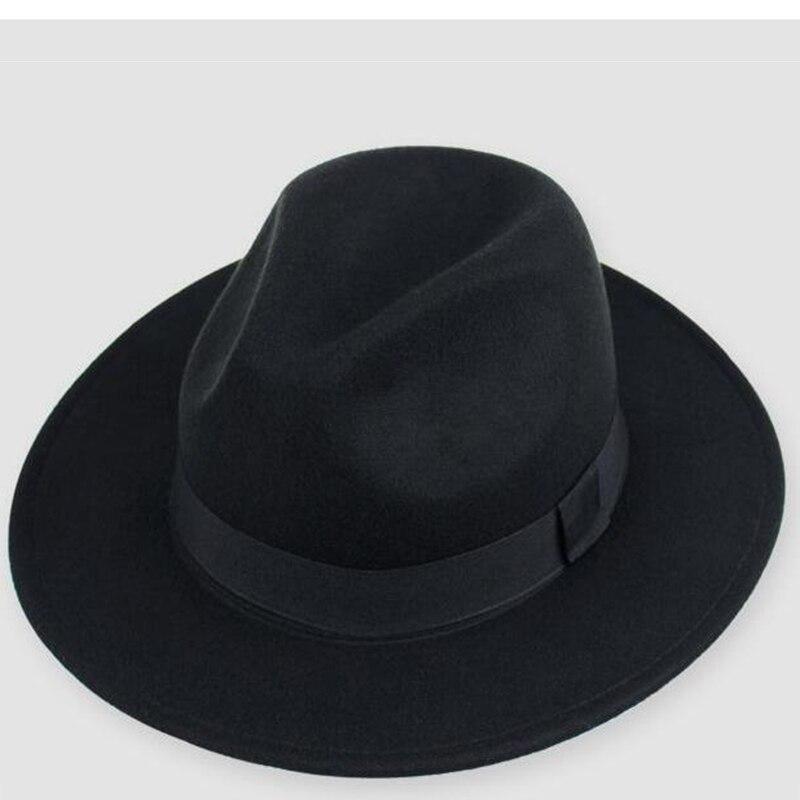 ZJBECHAHMU Fashion men fedoras women fashion Vintage jazz hat summer spring black woolen blend cap outdoor casual 2019 New