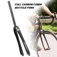 Horquilla delantera ultraligera de fibra de carbono para bicicleta de carretera, 700C, piñón fijo, 25,4/28,6mm