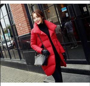 Image 2 - Удлиненные куртки, черные, красные, синие, морские, для женщин и длинные секции, женские куртки