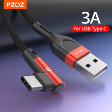 PZOZ 90 degree Cable usb Type c Micro usb Type C Fast Charging Microusb Type-C Charger