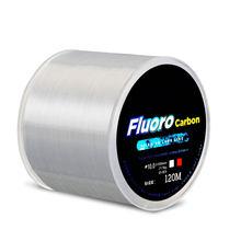 Fil de pêche solide en Nylon de 120M, revêtement en Fiber de carbone, transparent, fluorocarbone, 0.2-0.6mm, 3.25-21.5kg, outil de pêche