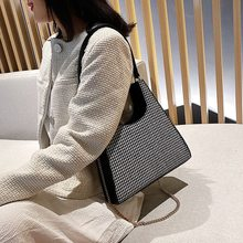 2019 Fashion New Plaid Shoulder Bag for Lady Women Chain Handbag and Purses Wint