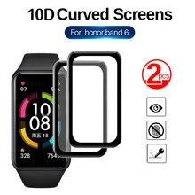 Film de protection à couverture complète en verre souple 9D, 2 pièces, pour Huawei Honor Band 6 Honor 6
