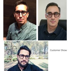 Image 3 - Round Acetate spectacle Vintage Retro Johnny Depp Style Clear myopia optical frame Glasses Men Women prescription Optic Frame