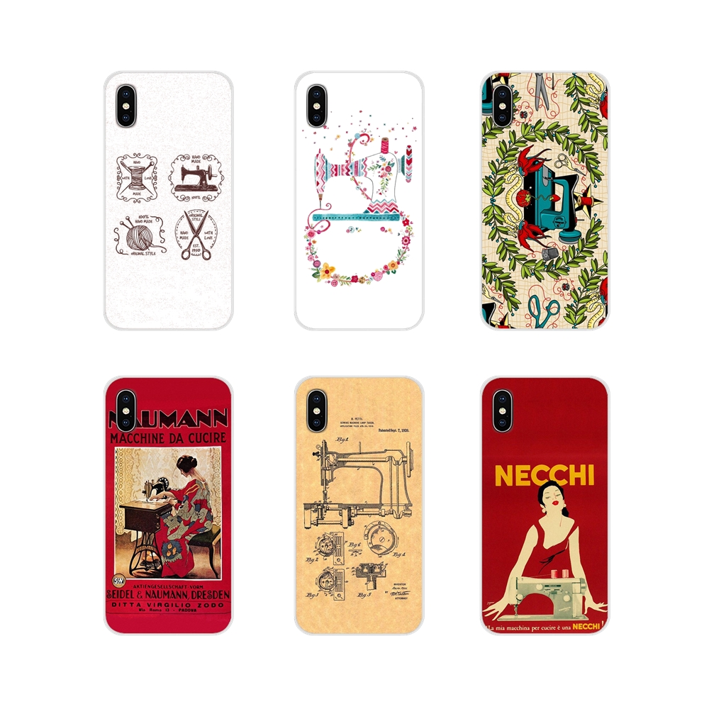 Sewing Machine pattern Accessories Phone Cases Covers For Samsung Galaxy A3 A5 A7 A9 A8 Star A6 Plus 2018 2015 2016 2017 image