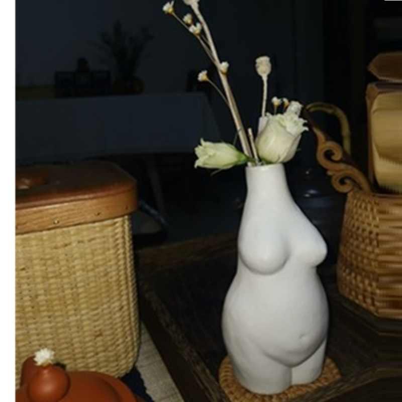 European Style Body Art Figurine Creative Ceramic Small Vase Modern Minimalist Home Ddecor A1863 Aliexpress