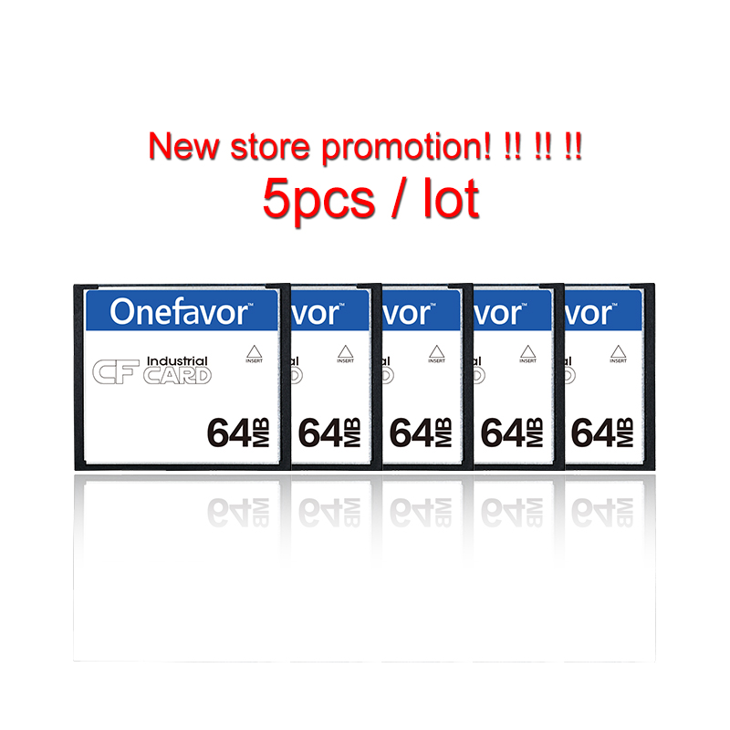 5pcs/lot 64MB Onefavor Real Capacity Memory 64M Card Type I CF Card Compact Flash Card High Quality