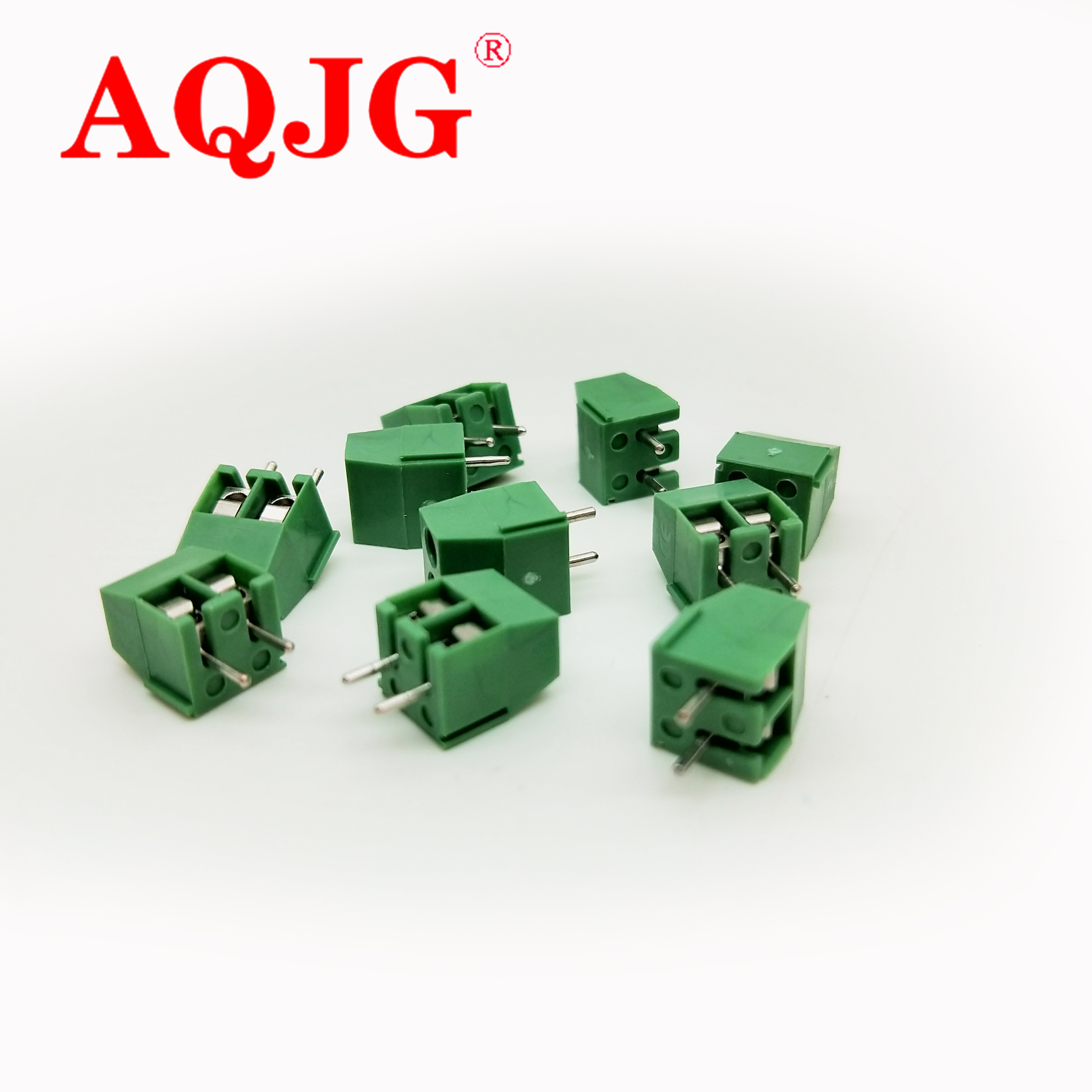 KF350 2p /3.5mm Pitch 7.5mm PCB Screw Terminal Block Connectors,binding Post Wire Connecting Terminals Spacing AQJG