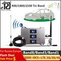 Автомобильный Применение трехдиапазонное Сотовая связь усилитель 900/1800/2100 МГц 2G 3g 4G усилитель сигнала мобильного телефона усилитель ретран...